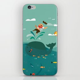 Whales and Pirates iPhone Skin