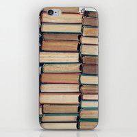 bookworm iPhone & iPod Skins featuring Bookworm by Laura Ruth