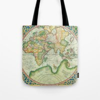 uncharted Tote Bags featuring Terra Firma by Catherine Holcombe