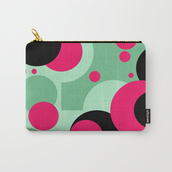 Abstract Polka dots pattern. green and red . Carry-All Pouch