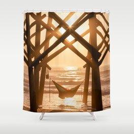 Folly Hammock Sunrise Shower Curtain