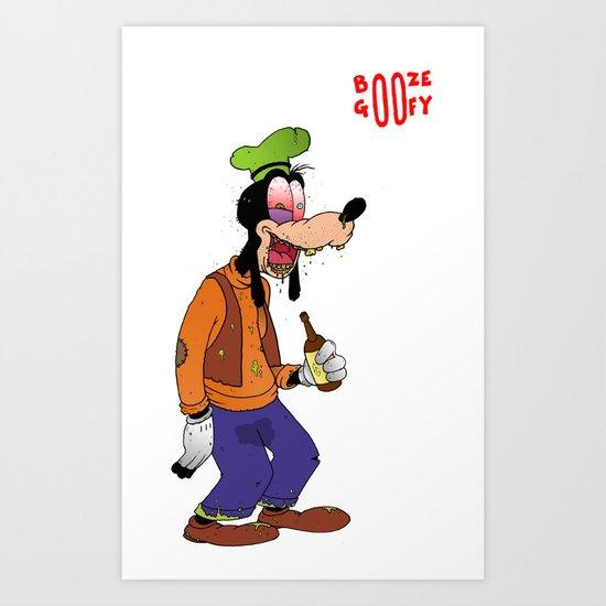Booze Goofy Art Print