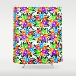 Tie Dye Holiday Lights Shower Curtain