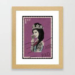 Queen Elizabeth Winehouse Framed Art Print