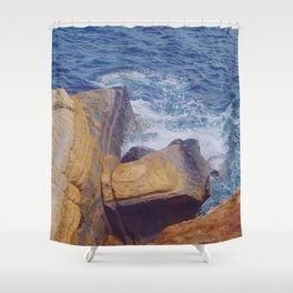 Crash Point Shower Curtain