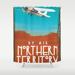 Australia Northern Territory Travel poster Shower Curtain