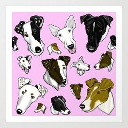 Smooth Fox Terrier-Pink Art Print