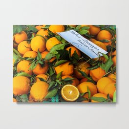 Orangen Metal Print