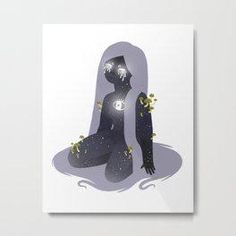 Space Girl 11 Metal Print