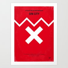 No304 My SIN CITY minimal movie poster Art Print
