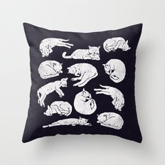 Sleeping Cats Throw Pillow