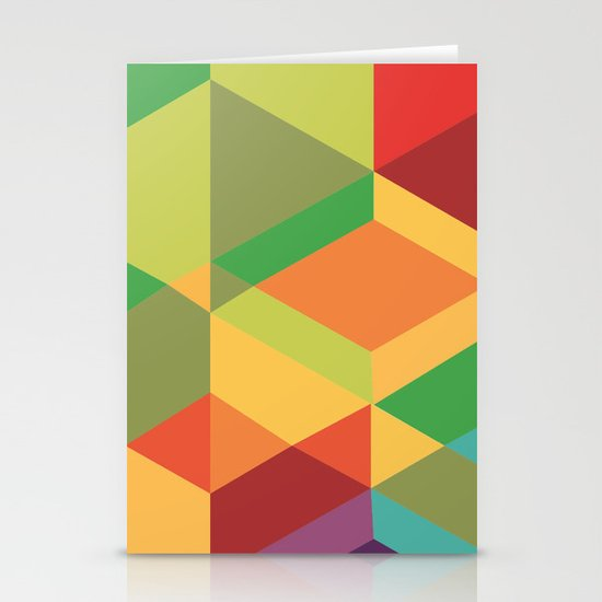 Geometric colour Stationery Cards