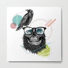 HipSkull Metal Print