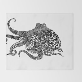 Cephalopod Dreams Throw Blanket