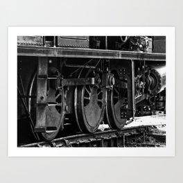 Workhorse At Rest B/W Art Print