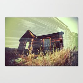 Ghost Town - House in the Field Canvas Print