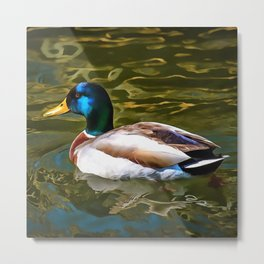The Son Of A Duck Is A Floater Metal Print