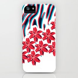 Lillys and Zebras iPhone Case