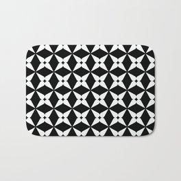 Geometric Pattern 247 (white crosses) Bath Mat