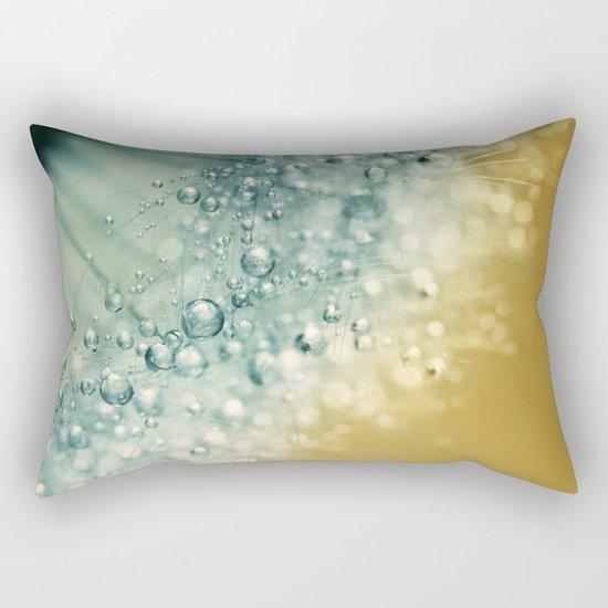 Ocean Blue Dandy Sparkles Rectangular Pillow