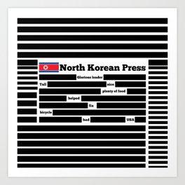 North Korea News Paper Art Print