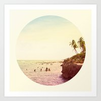 salt water Art Prints featuring Salt Water Dreams by M Studio