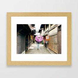 Geisha in Japan. Kyoto Framed Art Print