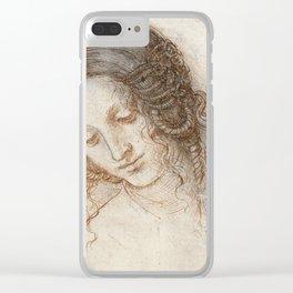 Leonardo da Vinci - Head of Leda Clear iPhone Case