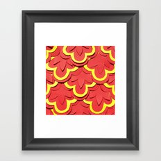 Red Shells Papercut Framed Art Print