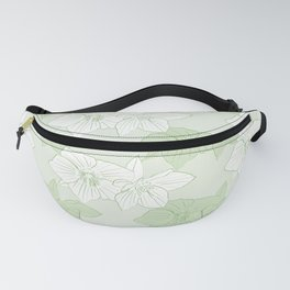 Green Hellebores Fanny Pack