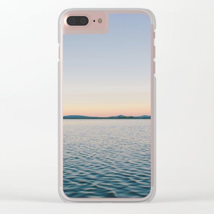 Sunset sea landscape Clear iPhone Case