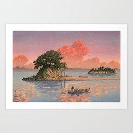 Kujukushima Shimabara by Kawase Hasui - Japanese Vintage Woodblock Ukiyo-e Painting Art Print