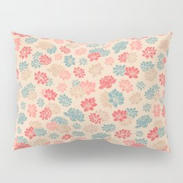 Retro Water Lily Pattern Pillow Sham