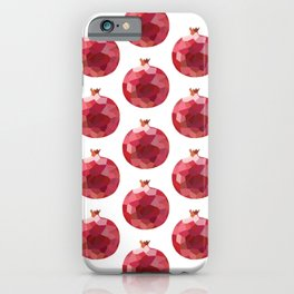 pomgranate (4) pattern, fill, repeating, tiled | elegant iPhone Case