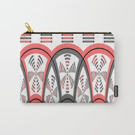 Abstract red and grey Carry-All Pouch