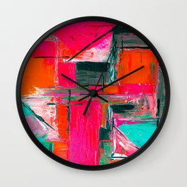Brush Series Collors 021 Wall Clock