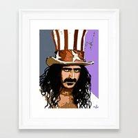 zappa Framed Art Prints featuring Zappa by Saundra Myles