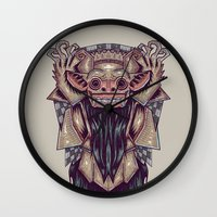 indonesia Wall Clocks featuring Barong Indonesia by Ahmad Mujib