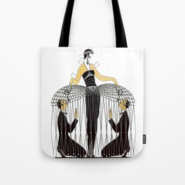 "Art Deco Design ""Improvised Cage"" by Erté Tote Bag"