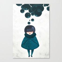 Bubbles in Winter Canvas Print