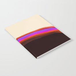 Orange, Purple, and Cream Abstract Notebook