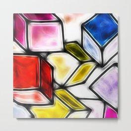 Fractalius cubes Metal Print