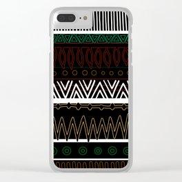 Dark Tribal Pattern Clear iPhone Case