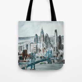 Philadelphia, Pennsylvania, USA Fine Art Acrylic Painting Tote Bag