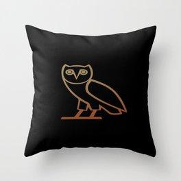 OvO Owl Drake Throw Pillow