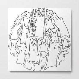 catbears Metal Print