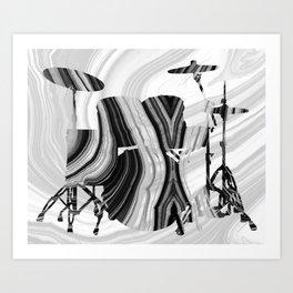 Marbled Music Art - Drums - Sharon Cummings Art Print
