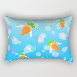 Angelic Carrots Rectangular Pillow