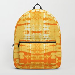 Satin Shibori Yellow Backpack