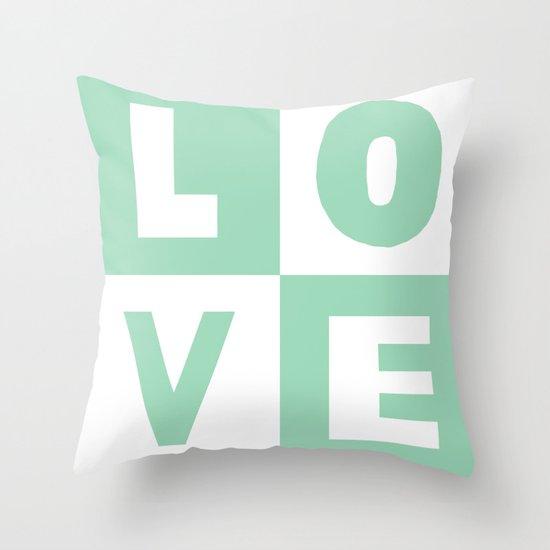 Love Mint Throw Pillow